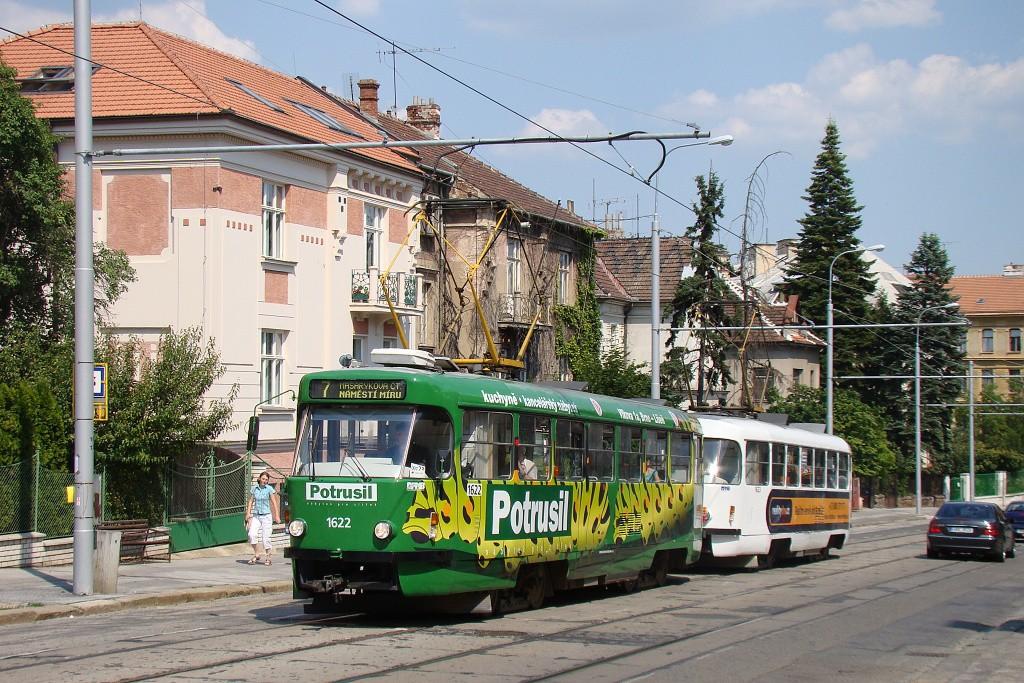 Fotogalerie » ČKD Tatra T3P 1622 | ČKD Tatra T3P 1623 | Brno | střed | Údolní | Všetičkova