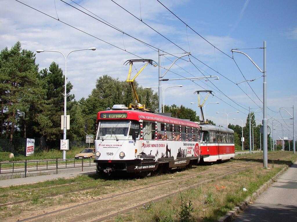 Fotogalerie » ČKD Tatra T3P 1589 | Pragoimex T3R.PV 1558 | Brno | Černá Pole | třída Generála Píky | Lesnická