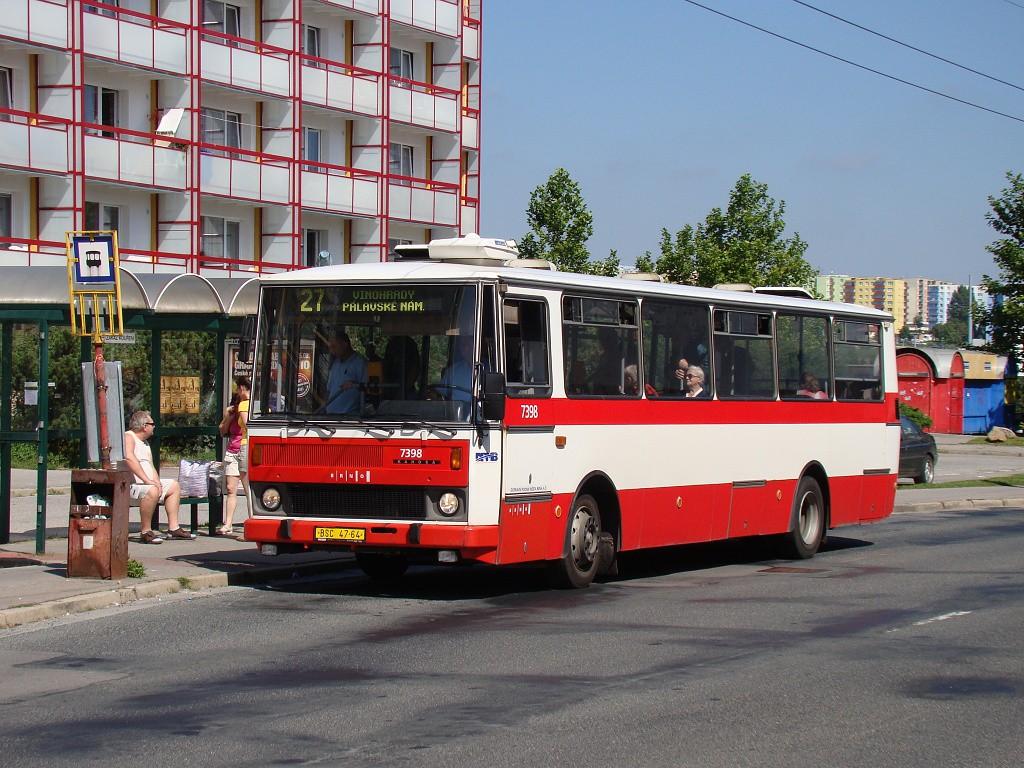 Fotogalerie » Karosa B731.1663 BSC 47-64 7398 | Brno | Vinohrady | Pálavské náměstí | Bzenecká