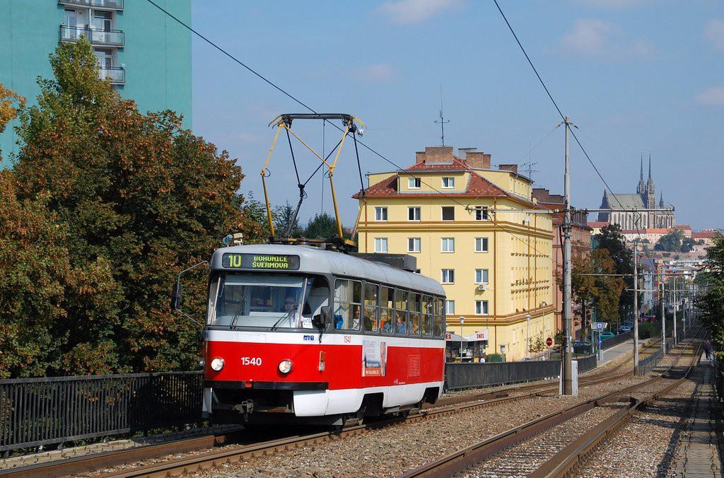 Fotogalerie » ČKD Tatra T3M 1540 | Brno | Štýřice