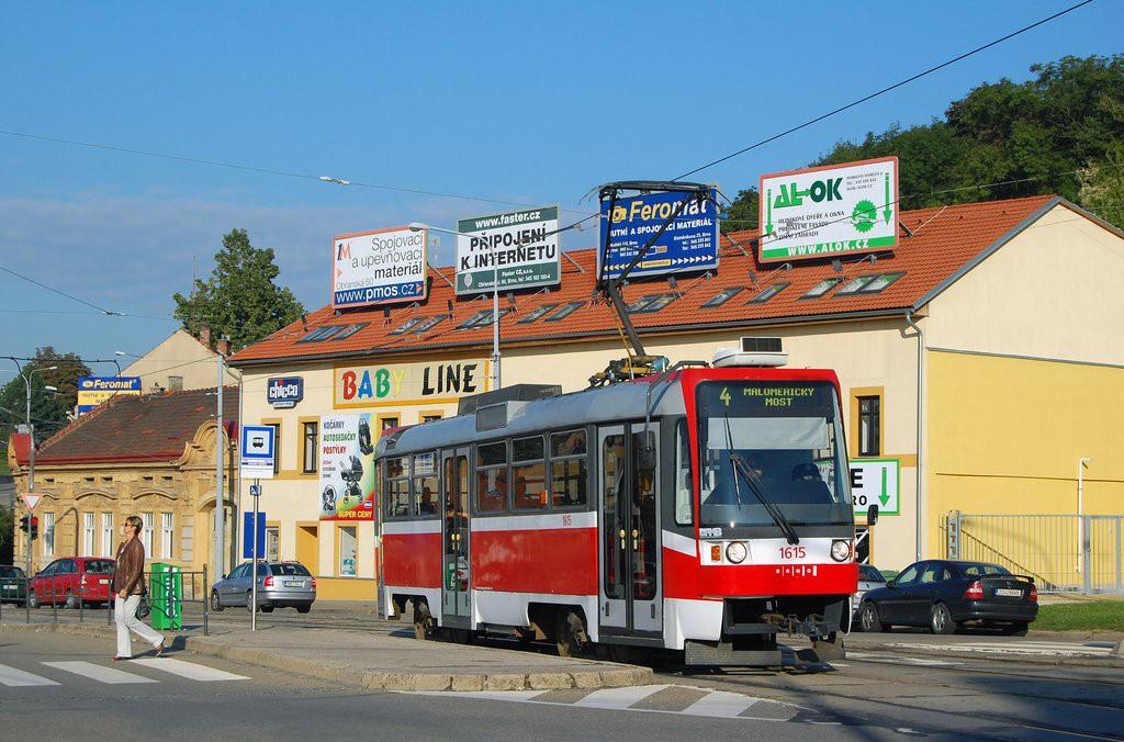 Fotogalerie » ČKD Tatra T3R 1615 | Brno | Husovice | Tomkovo náměstí | Tomkovo náměstí