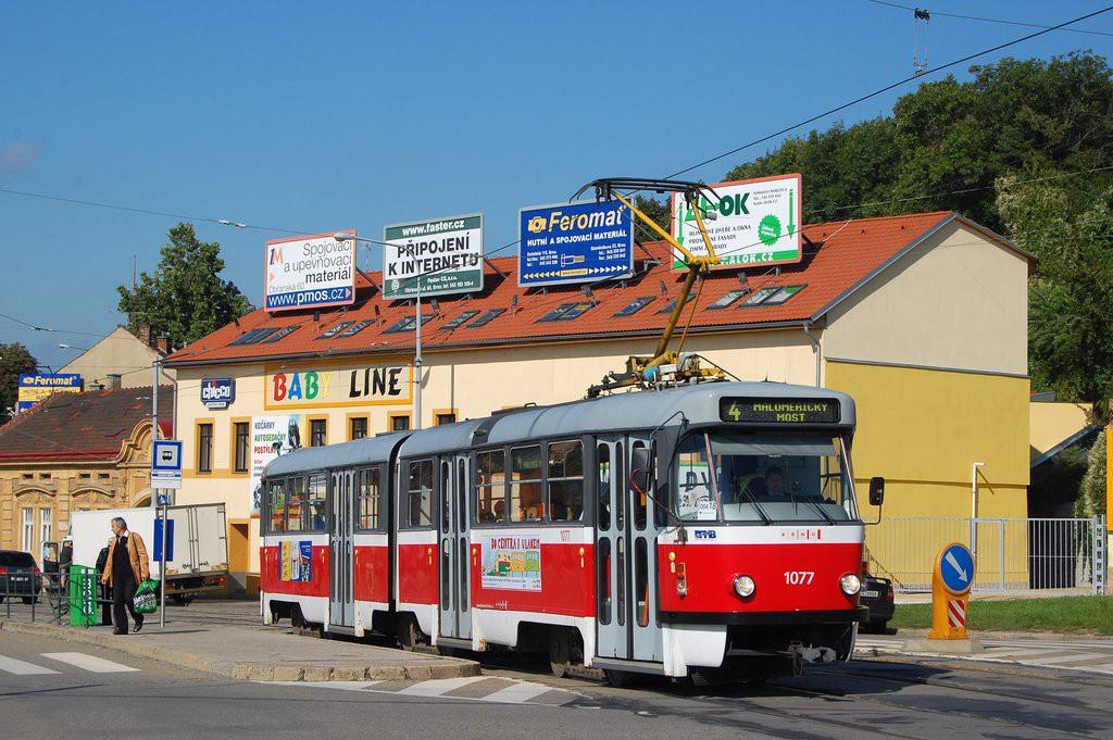 Fotogalerie » ČKD Tatra K2P 1077 | Brno | Husovice | Tomkovo náměstí | Tomkovo náměstí
