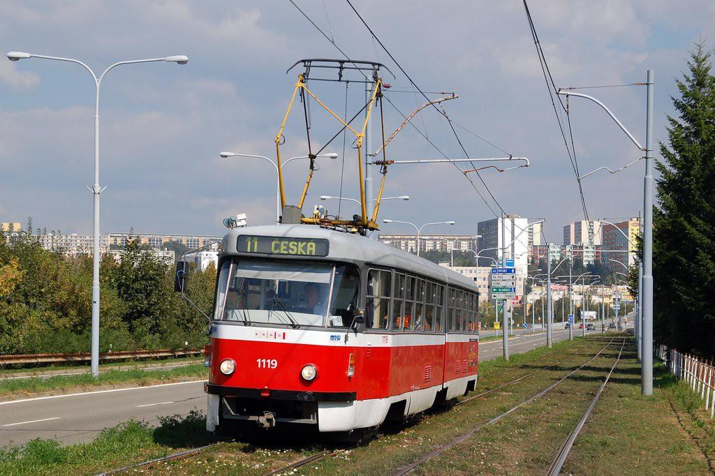 Fotogalerie » ČKD Tatra K2P 1119 | Brno | Černá Pole | třída Generála Píky
