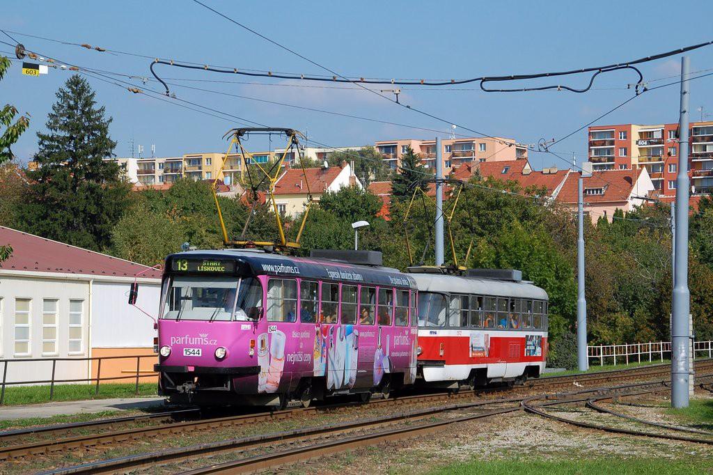 Fotogalerie » ČKD Tatra T3M 1544 | ČKD Tatra T3M 1572 | Brno | Bohunice