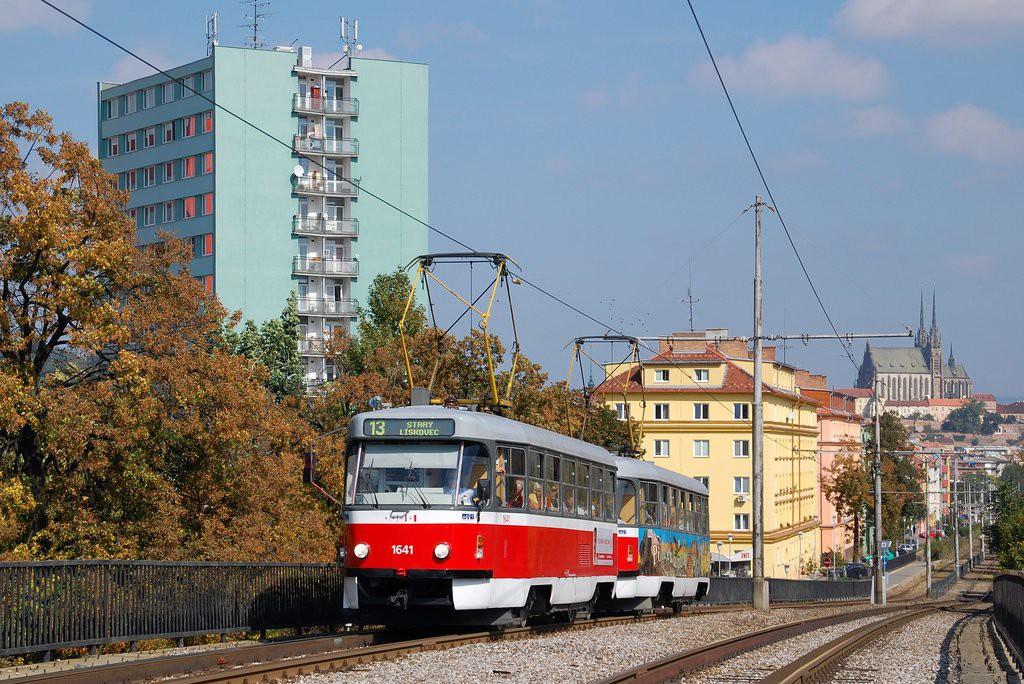 Fotogalerie » ČKD Tatra T3G 1641 | ČKD Tatra T3G 1642 | Brno | Štýřice