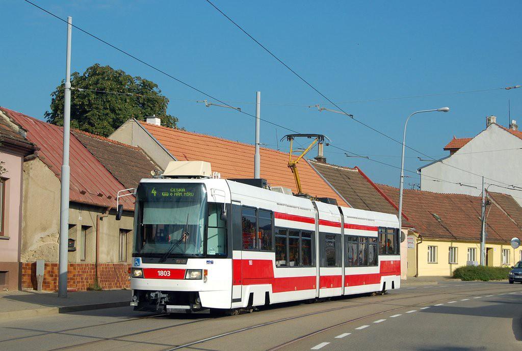 Fotogalerie » ČKD DS RT6N1 1803 | Brno | Maloměřice | Selská