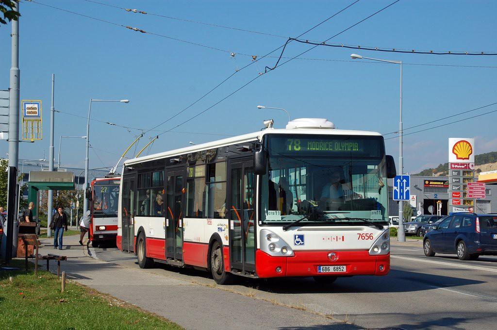 Fotogalerie » Irisbus Citelis 12M 6B6 6852 7656 | Brno | Vinohrady | Žarošická | Prušánecká