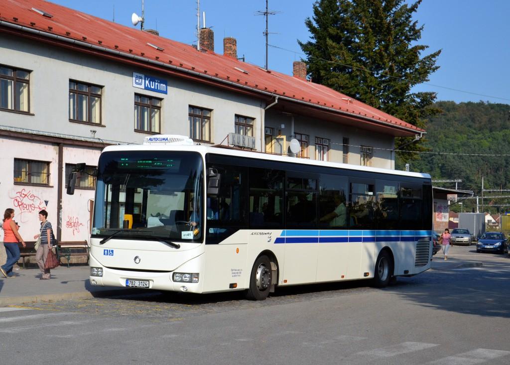 Fotogalerie » Irisbus Crossway LE 12M 7B2 3124 | Kuřim | Nádražní | Kuřim, železniční stanice