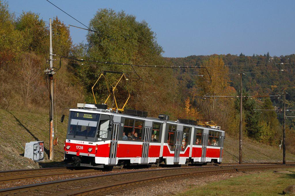 Fotogalerie » ČKD Tatra KT8D5R.N2 1728 | Brno | Bystrc