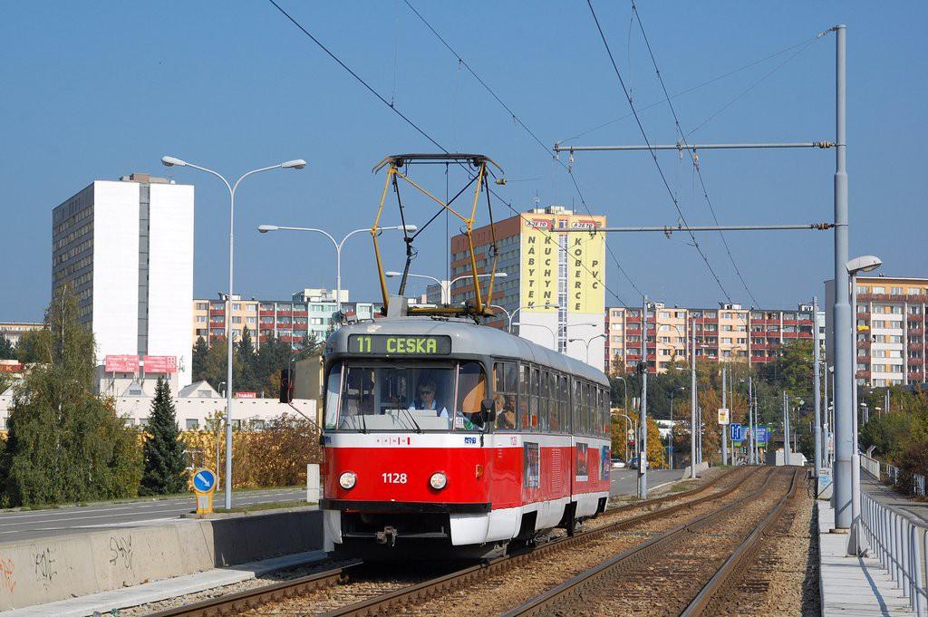 Fotogalerie » ČKD Tatra K2 1128 | Brno | Černá Pole | třída Generála Píky
