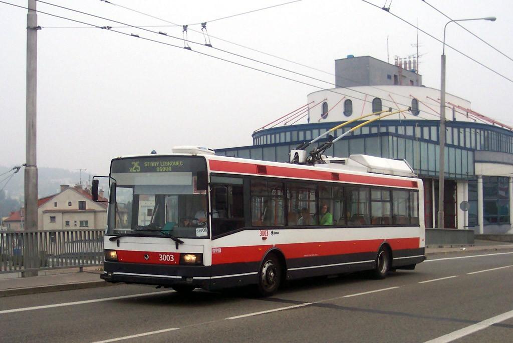 Fotogalerie » Škoda 21Tr 3003 | Brno | Komín | Veslařská