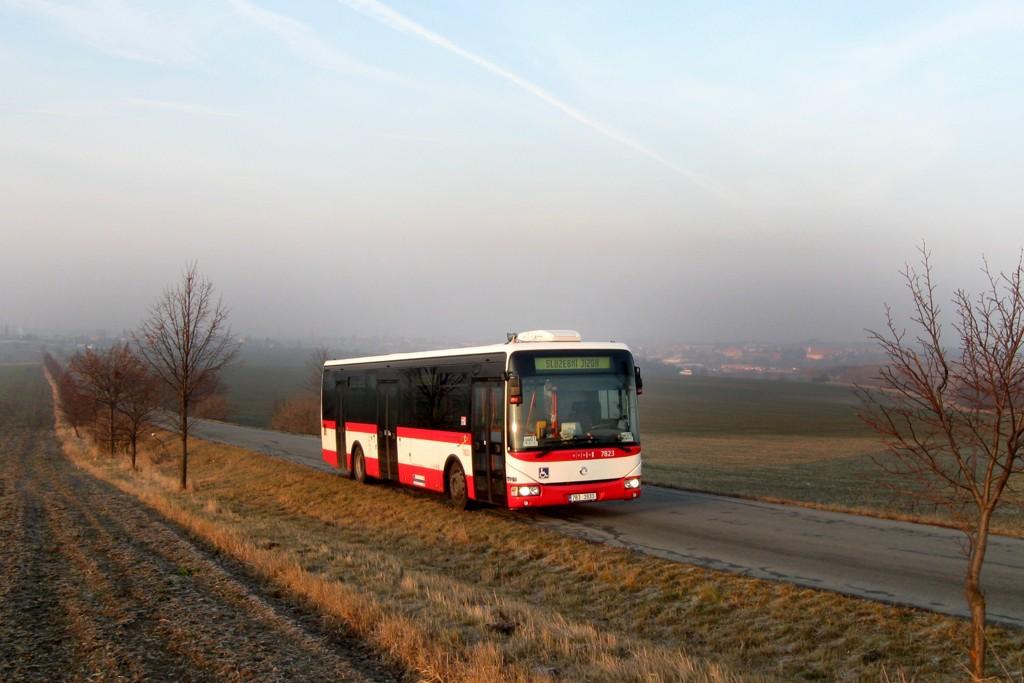 Fotogalerie » Irisbus Crossway LE 12M 7B3 3933 7823   Sokolnice   silnice Sokolnice - Prace