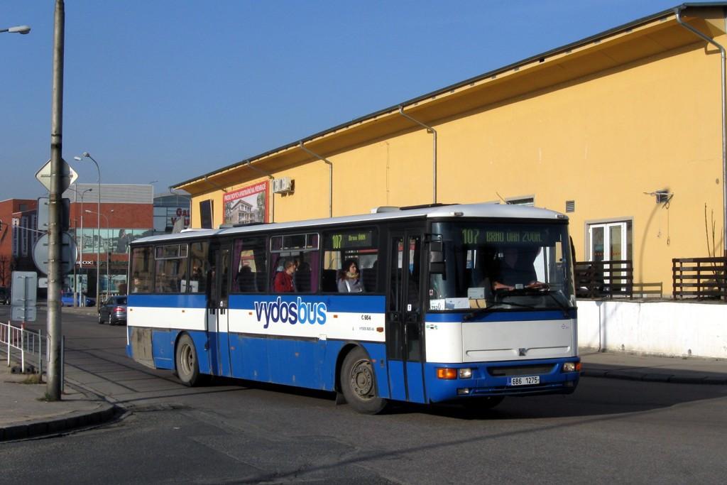 Fotogalerie » Karosa C954.1360 6B6 1275   Brno   Trnitá   Trnitá   Autobusové nádraží Zvonařka