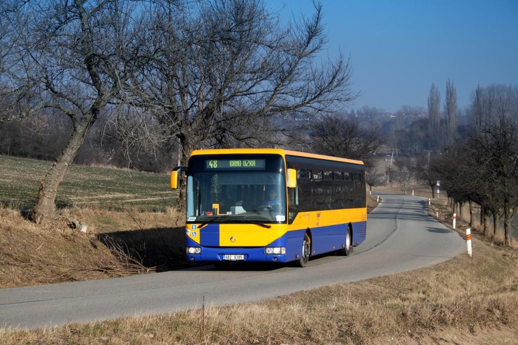 Fotogalerie » Irisbus Crossway LE 12M 6B2 9385 | Kobylnice | Kobylnice, Na rybníku