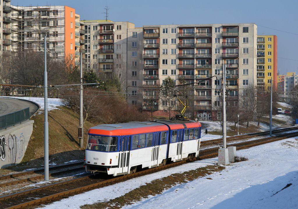 Fotogalerie » ČKD Tatra K2P 1023   Brno   Bohunice