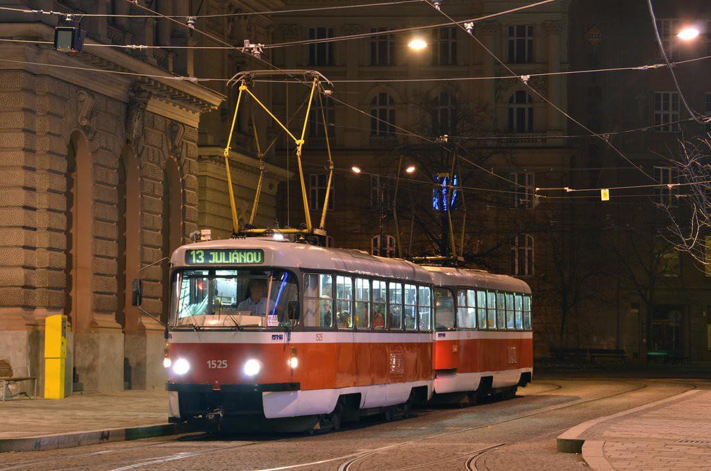 Fotogalerie » ČKD Tatra T3 1525 | ČKD Tatra T3 1528 | Brno | střed | Česká | Česká