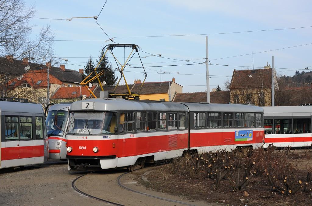 Fotogalerie » ČKD Tatra K2 1094 | Brno | Židenice