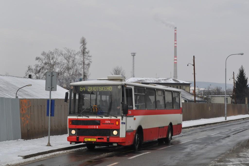 Fotogalerie » Karosa B732.1654.3 BSC 38-62 7374   Brno   Maloměřice   Kulkova   Podsednická