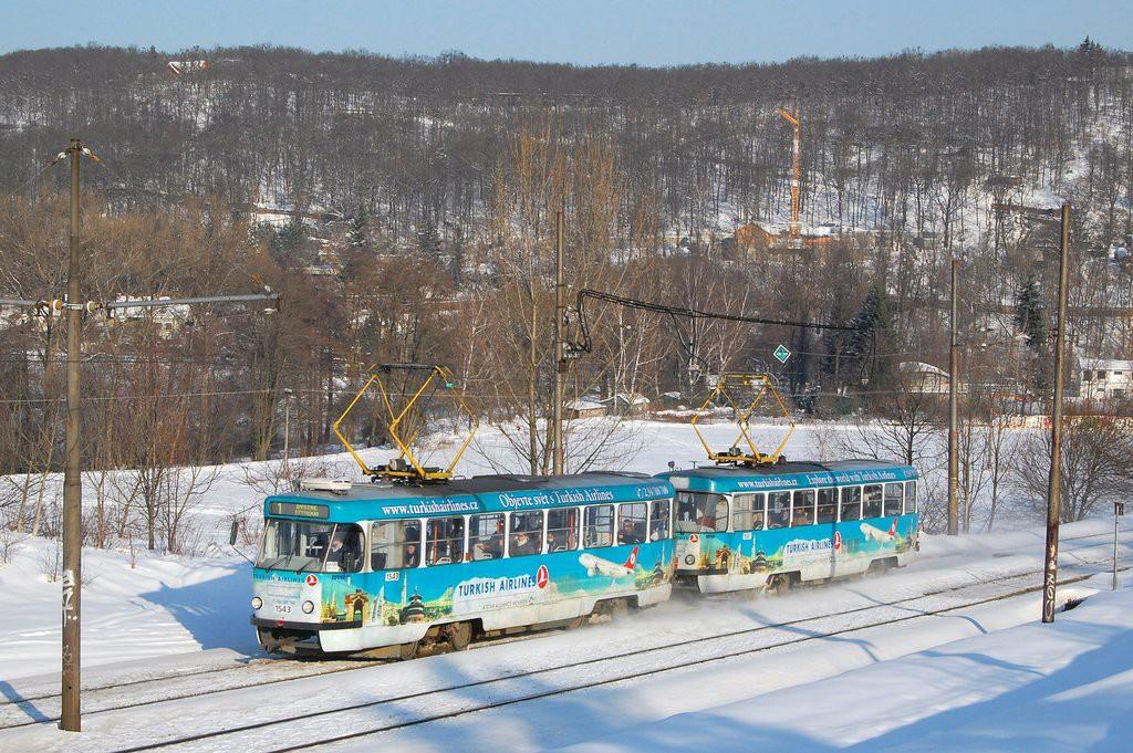 Fotogalerie » ČKD Tatra T3P 1543 | ČKD Tatra T3P 1587 | Brno | Bystrc