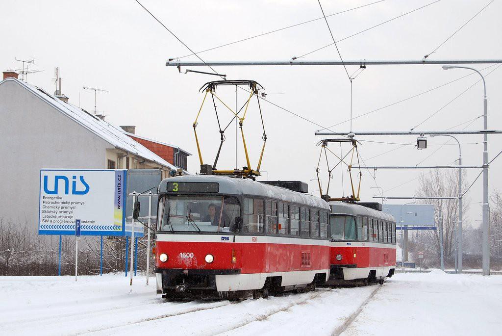 Fotogalerie » ČKD Tatra T3M 1600 | ČKD Tatra T3M 1601 | Brno | Komín | Jundrovská | Komín, smyčka