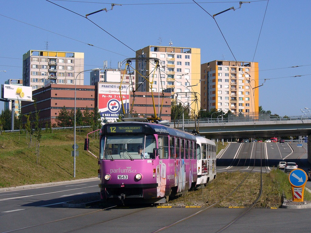 Fotogalerie » ČKD Tatra T3G 1643 | ČKD Tatra T3G 1644 | Brno | Medlánky | Purkyňova