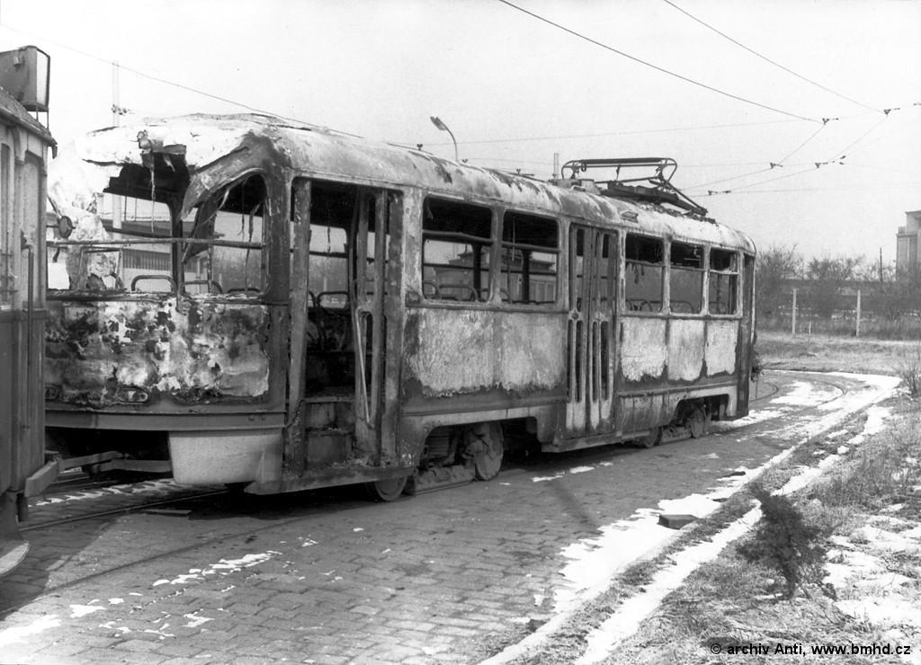 Fotogalerie » ČKD Tatra T3 1497   Brno   vozovna Medlánky