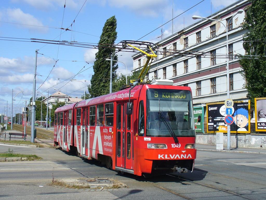 Fotogalerie » ČKD Tatra K2R03-P 1049 | Brno | Černá Pole | třída Generála Píky