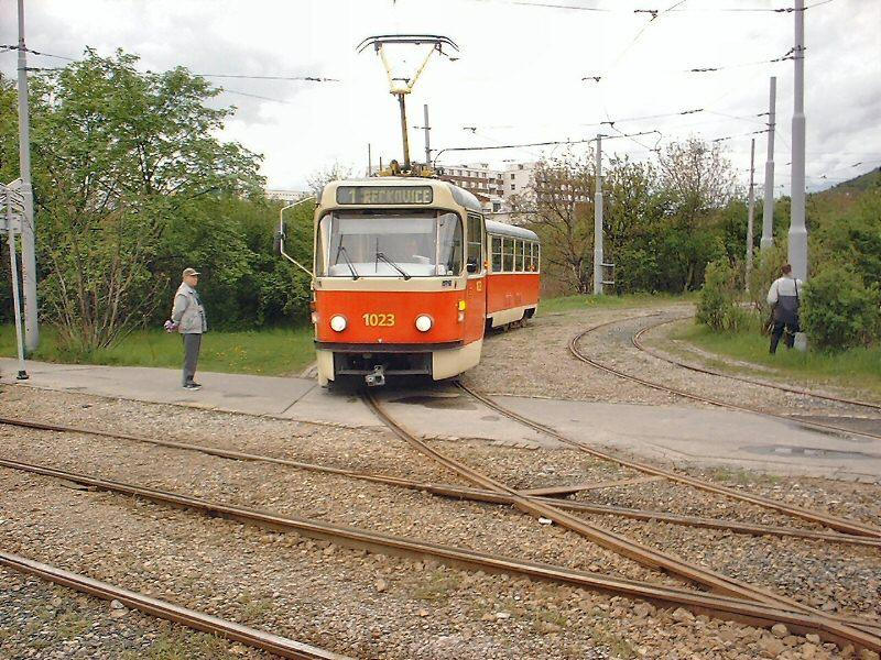 Fotogalerie » ČKD Tatra K2P 1023   Brno   Komín