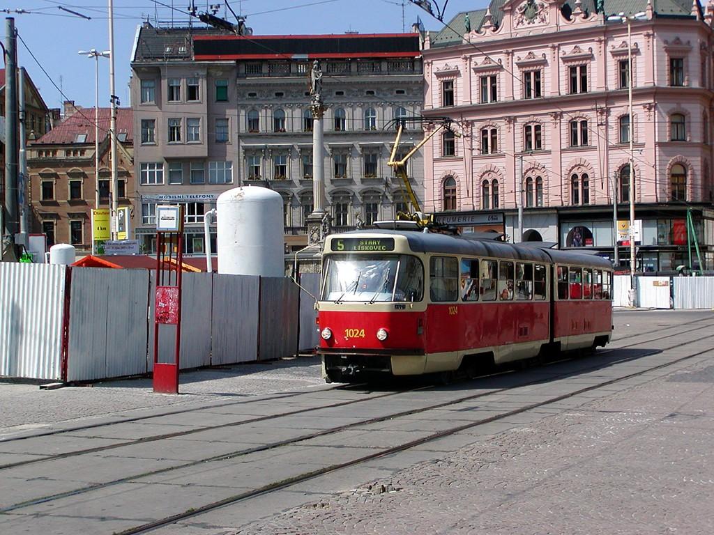 Fotogalerie » ČKD Tatra K2P 1024 | Brno | střed | náměstí Svobody | Náměstí Svobody