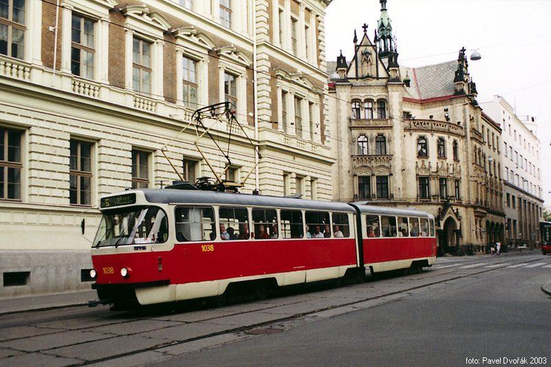Fotogalerie » ČKD Tatra K2T 1038 | Brno | střed | Rašínova