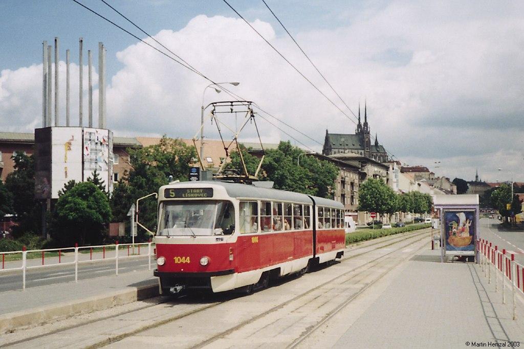 Fotogalerie » ČKD Tatra K2T 1044 | Brno | Staré Brno | Nové sady | Křídlovická