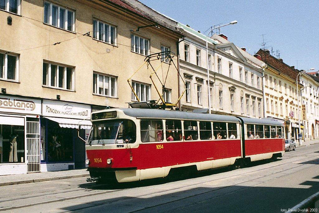 Fotogalerie » ČKD Tatra K2T 1054 | Brno | Pekařská