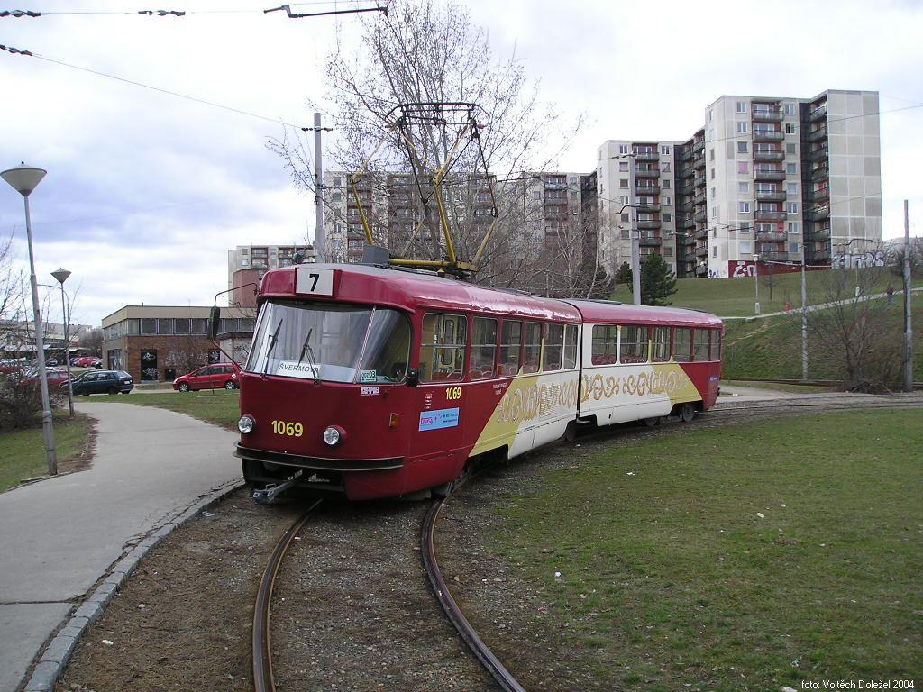 Fotogalerie » ČKD Tatra K2 1069 | Brno | Bohunice | Švermova, smyčka