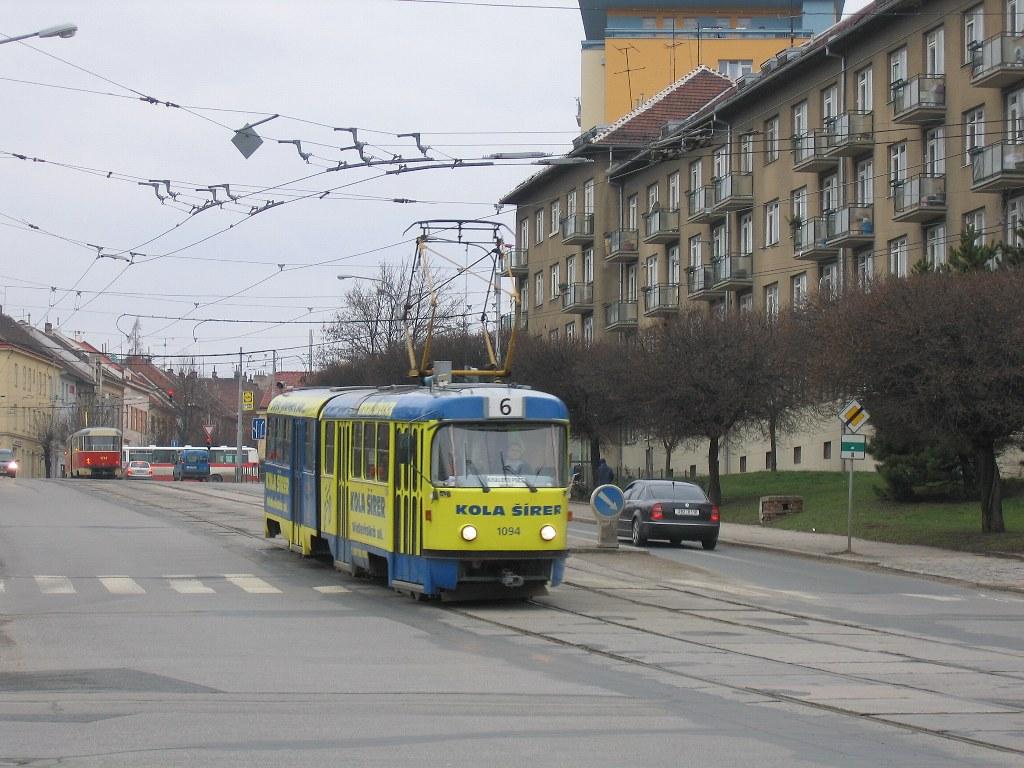 Fotogalerie » ČKD Tatra K2 1094 | Brno | Královo Pole | Kosmova