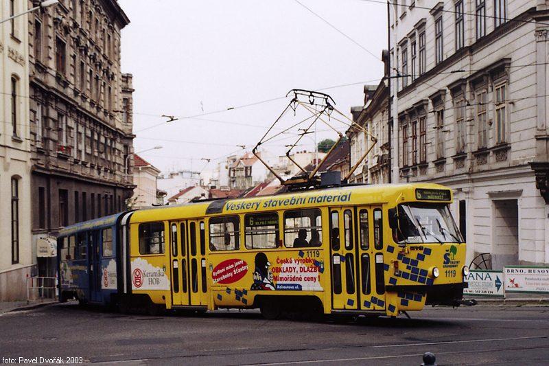 Fotogalerie » ČKD Tatra K2P 1119   Brno   střed   Šilingrovo náměstí
