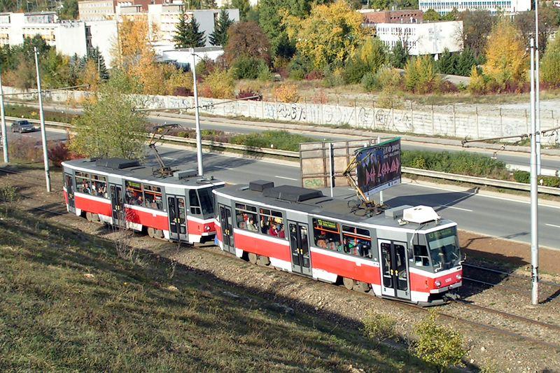 Fotogalerie » ČKD DS T6A5 1205   ČKD DS T6A5 1206   Brno   Bílá Hora
