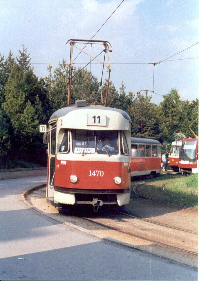 Fotogalerie » Tatra T2R 1470 | Brno | Lesná | Čertova rokle, smyčka