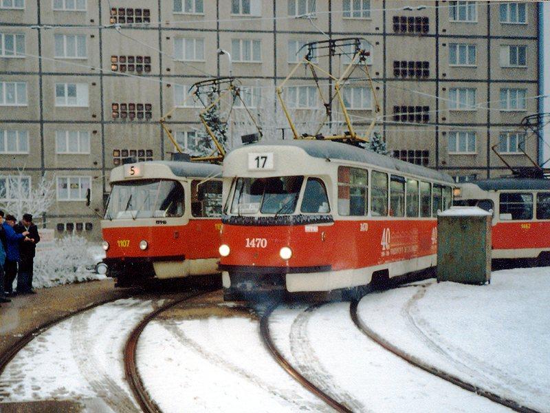 Fotogalerie » Tatra T2R 1470 | Tatra T2R 1462 | Brno | Štefánikova čtvrť | Štefánikova čtvrť, smyčka