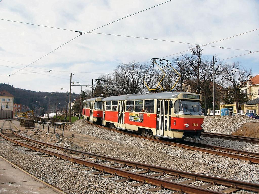 Fotogalerie » ČKD Tatra T3 1525 | ČKD Tatra T3 1528 | Brno | Pisárky