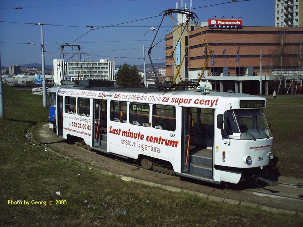 Fotogalerie » ČKD Tatra T3M 1565 | Brno | Královo Pole | Technické muzeum, smyčka