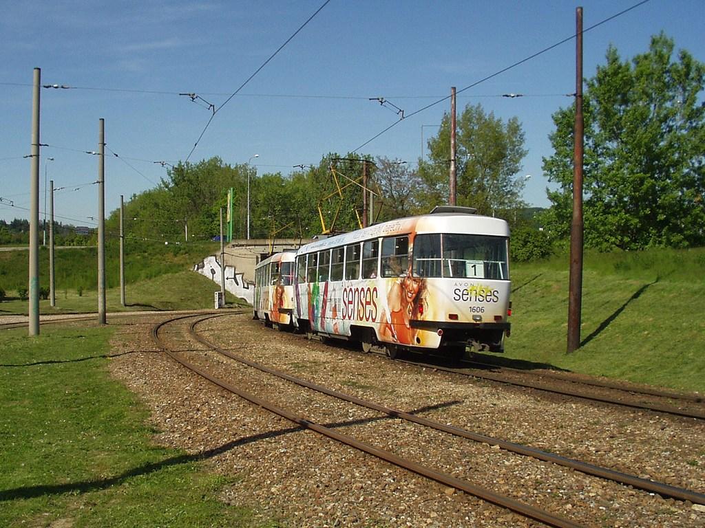 Fotogalerie » ČKD Tatra T3G 1608 | ČKD Tatra T3G 1606 | Brno | Bystrc