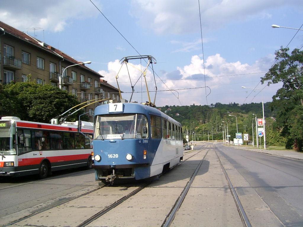 Fotogalerie » ČKD Tatra T3SUCS 1620 | Brno | Královo Pole | Kosmova