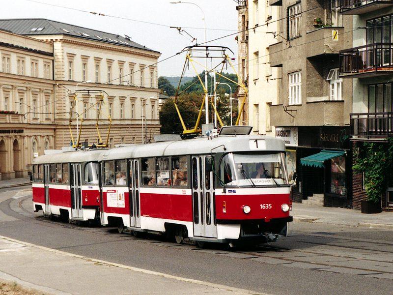 Fotogalerie » ČKD Tatra T3G 1635   ČKD Tatra T3G 1636   Brno   Pekařská