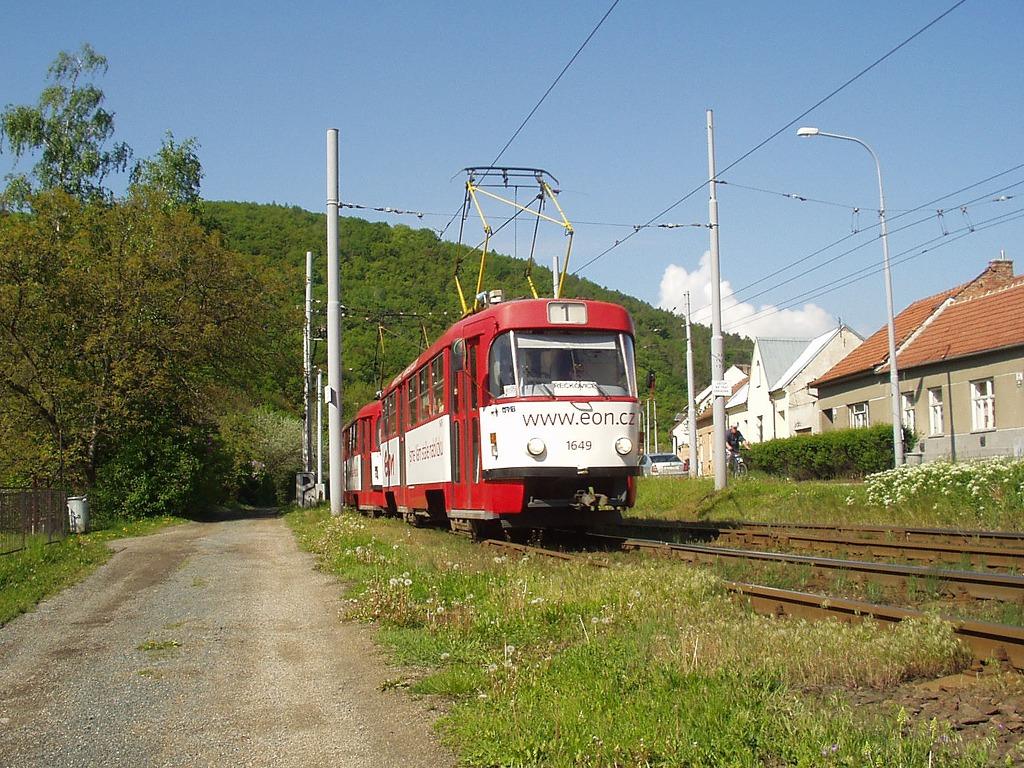 Fotogalerie » ČKD Tatra T3G 1649 | ČKD Tatra T3G 1650 | Brno | Komín | Branka