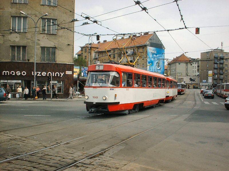 Fotogalerie » ČKD Tatra T3G 1649 | ČKD Tatra T3G 1650 | Brno | Staré Brno | Křížová