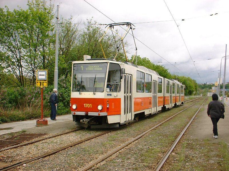 Fotogalerie » ČKD Tatra KT8D5 1701 | Brno | Komín
