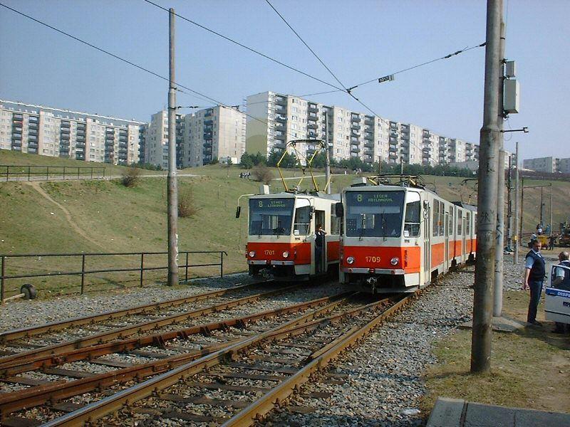 Fotogalerie » ČKD Tatra KT8D5 1701   ČKD Tatra KT8D5 1709   Brno   Líšeň