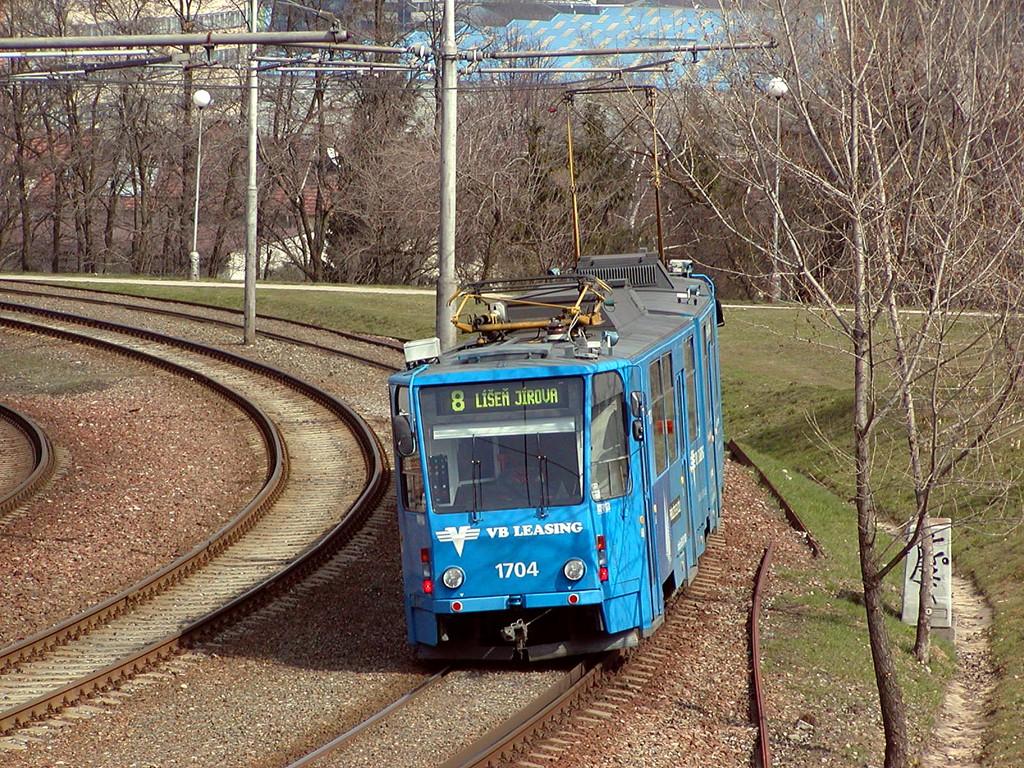 Fotogalerie » ČKD Tatra KT8D5 1704 | Brno