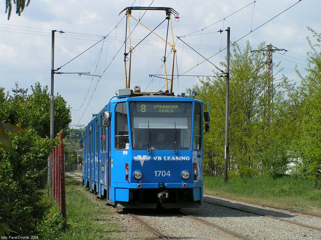 Fotogalerie » ČKD Tatra KT8D5 1704 | Brno | Stránská skála