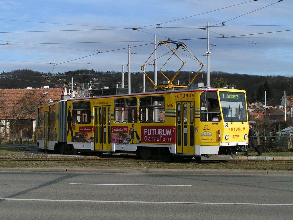 Fotogalerie » ČKD Tatra KT8D5R.N2 1706 | Brno | Komín | Komín, smyčka